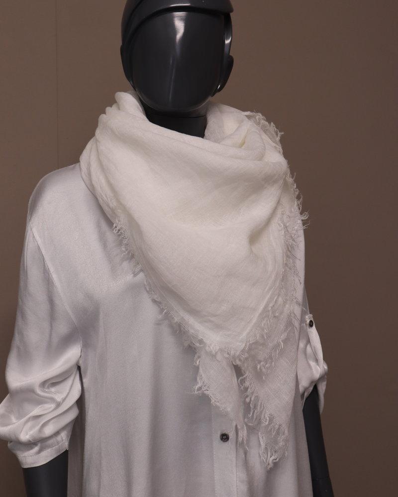 Sjaal linnen wit