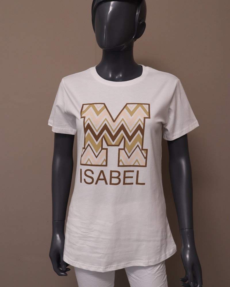 "t-shirt ""Isabel"" wit"