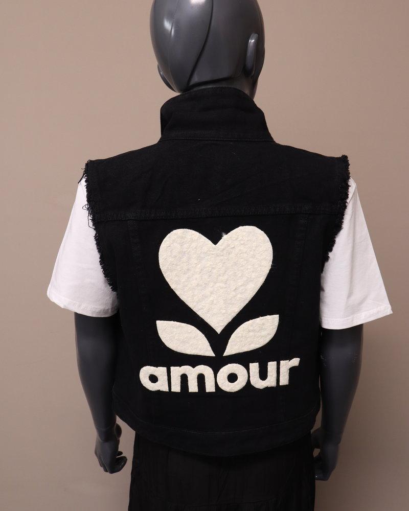 "Gilet ""Amour"" zwart"
