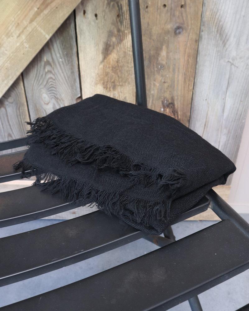 Sjaal linnen zwart