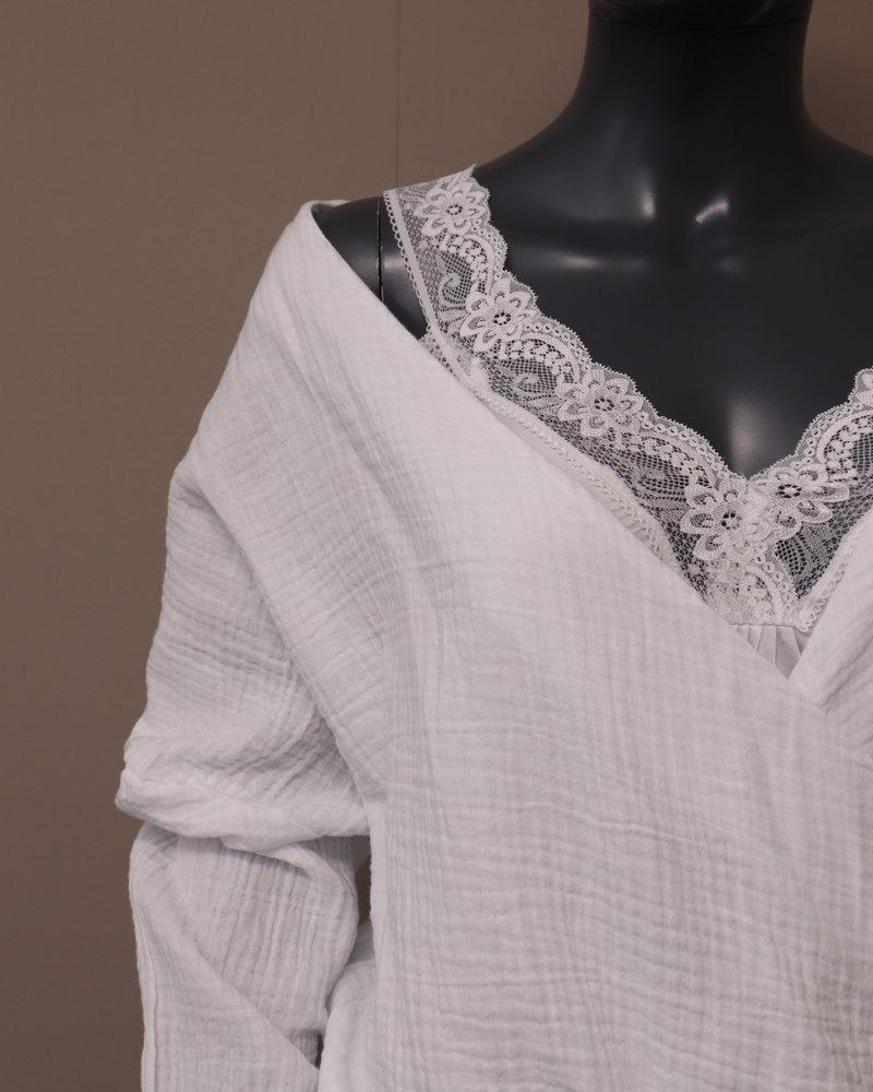 Overslag blouse wit