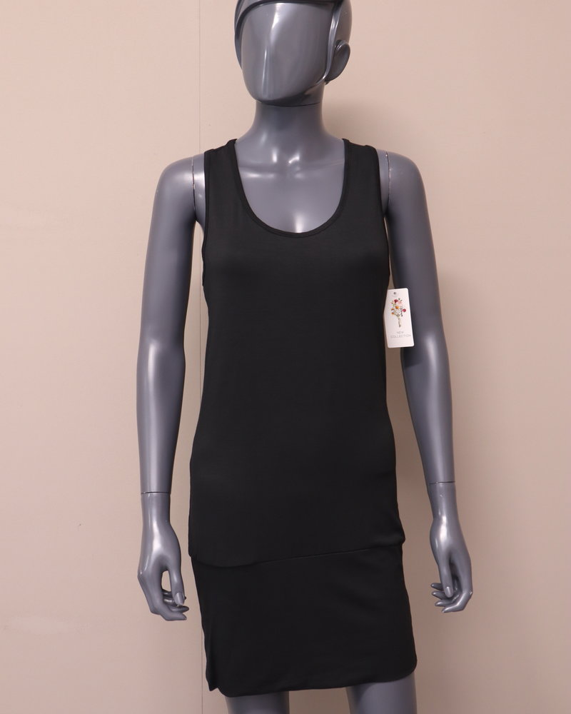 Basic hemd lang zwart