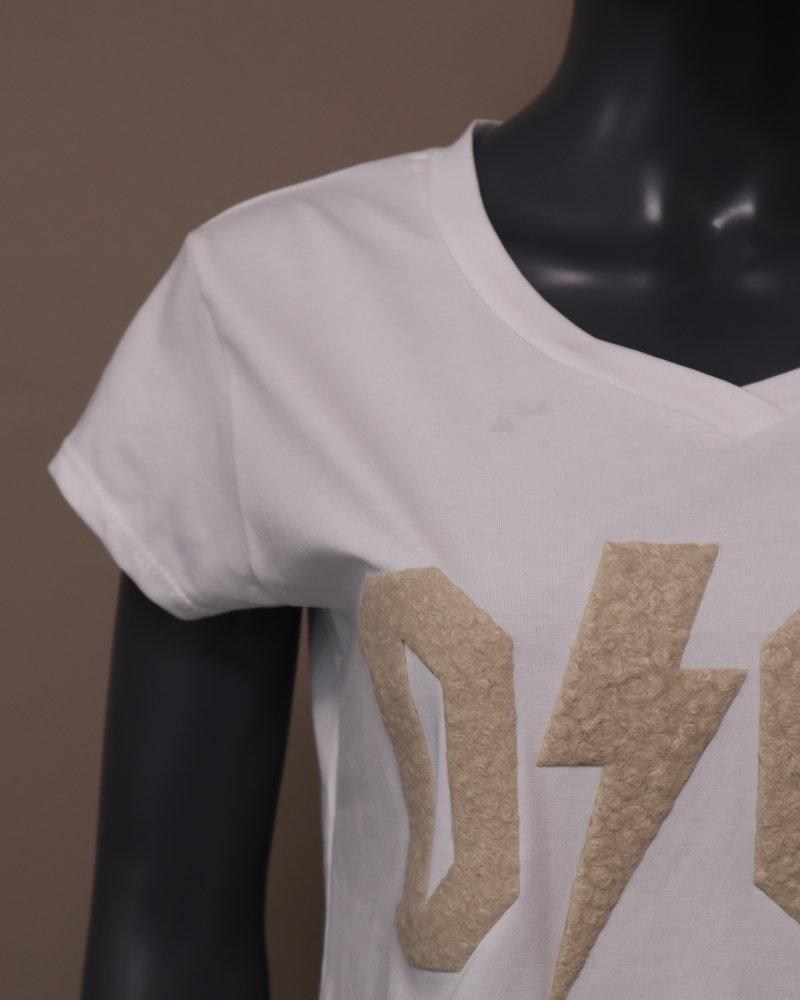 """T-shirt """"dior"""" wit/beige"""