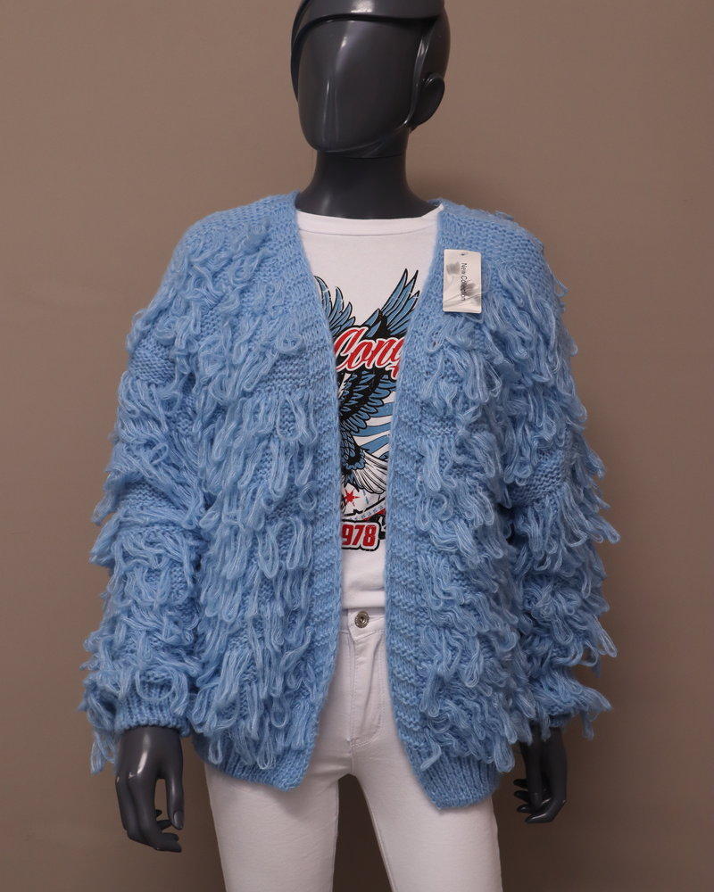 Vest lussen blauw