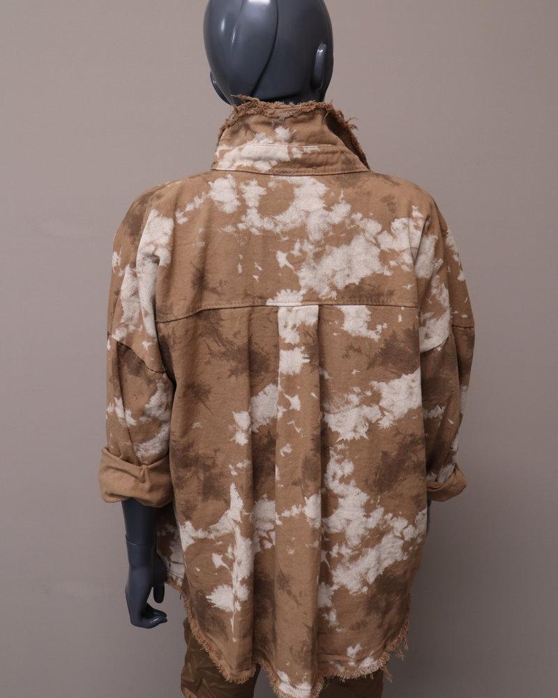 Oversized jacket camel