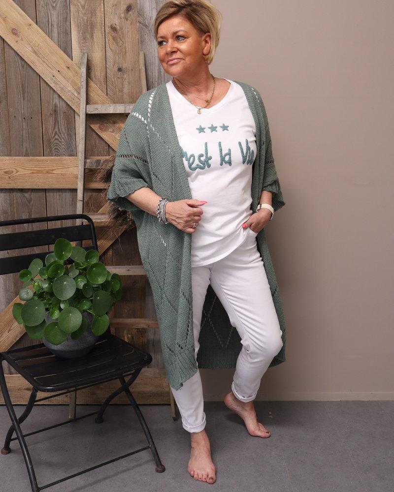 Vest korte mouw groen
