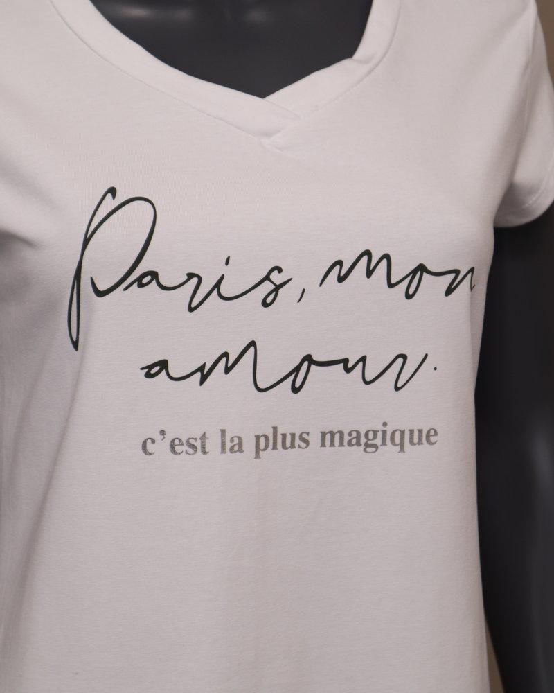 """T-shirt """"Paris, mon amour"""" wit"""
