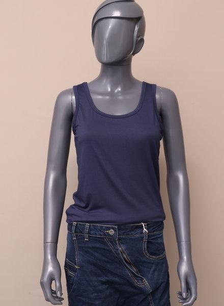 Basic hemd donkerblauw