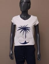 """T-shirt """"California Palms"""" blauw"""