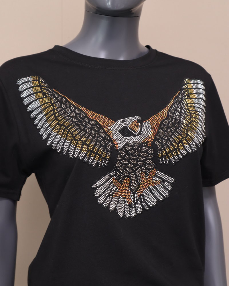 """T-shirt """"Eagle"""" zwart"""