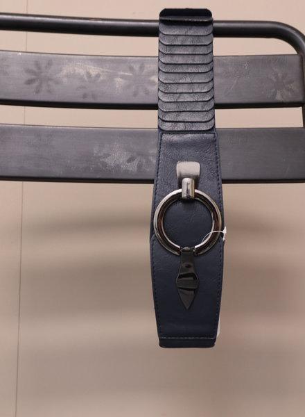 Riem elastisch donkerblauw