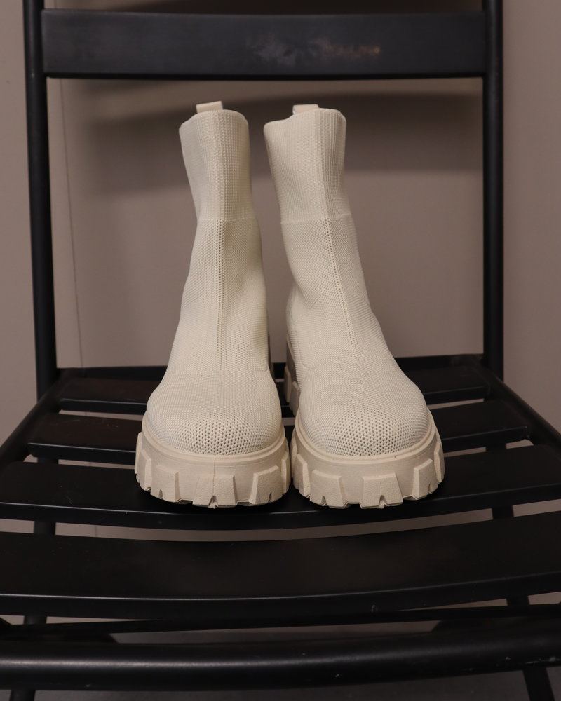 Sok boots beige