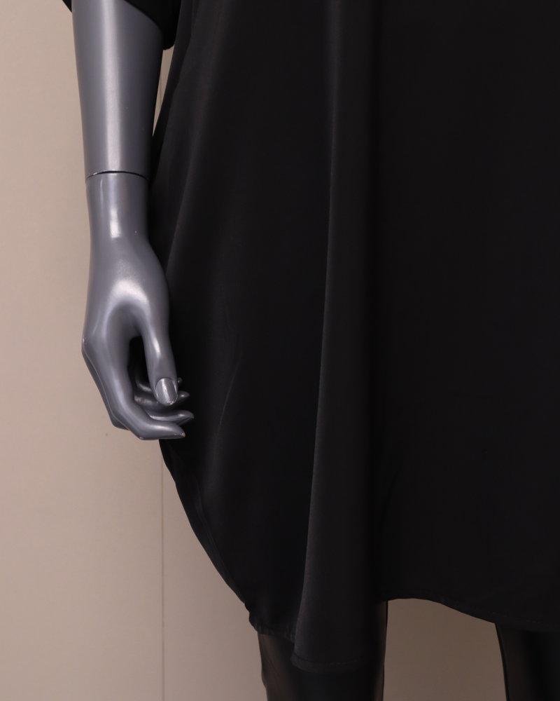 Tuniek/jurk ophaalmouw zwart