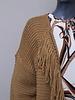Vest grof gebreid camel