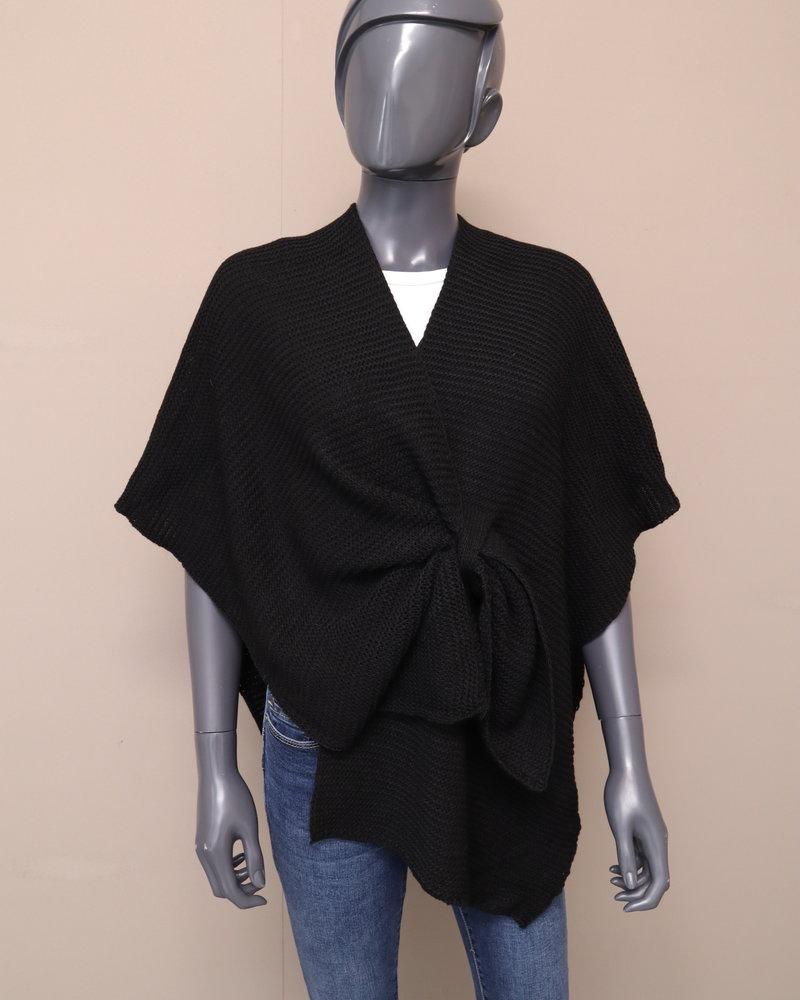 Poncho/omslag zwart