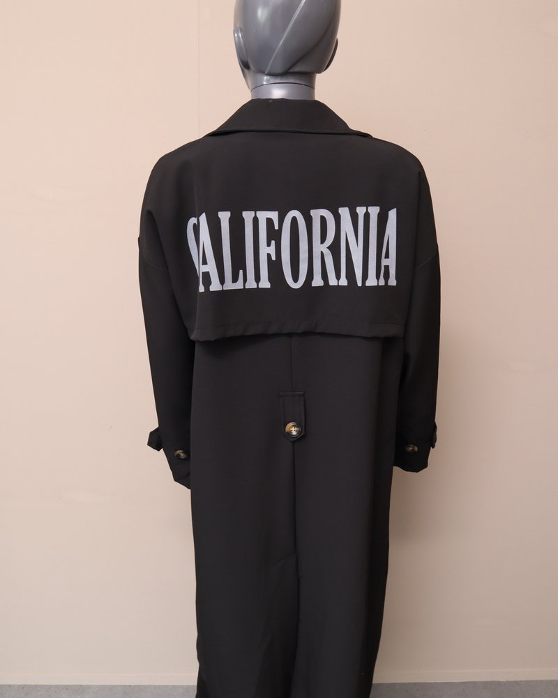 "Trenchcoat ""California"" zwart"