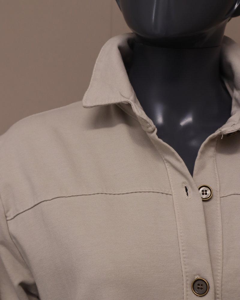 Jog blouse/vest roomwit