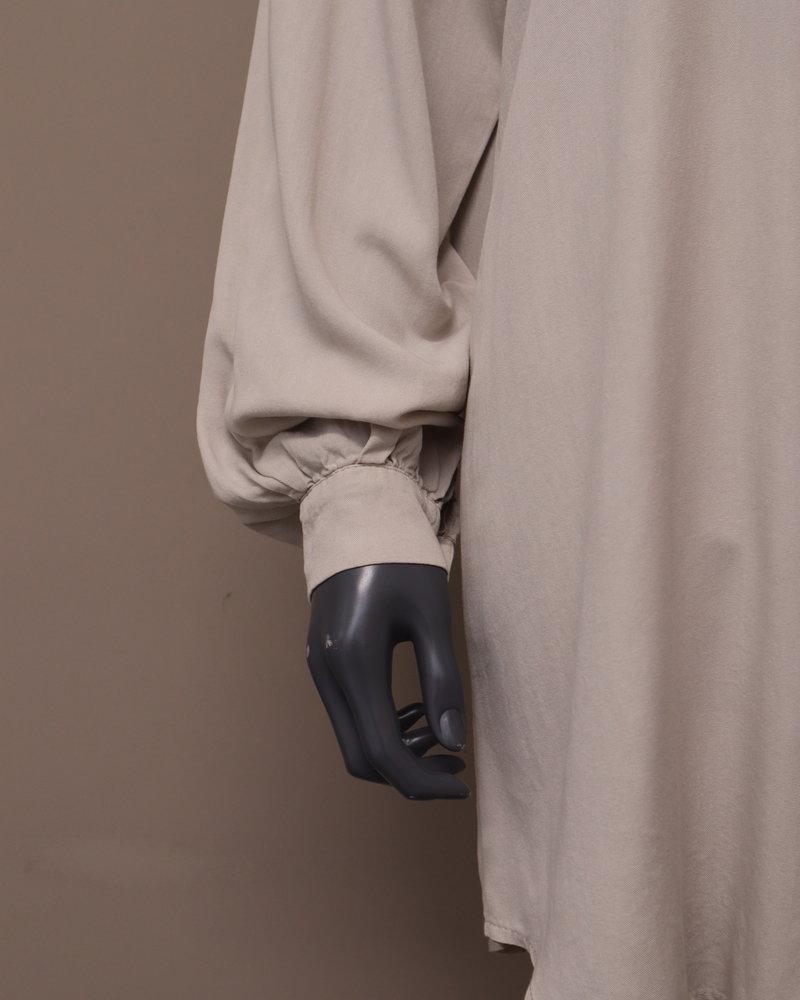 Blouse/jurk doorknoop roomwit