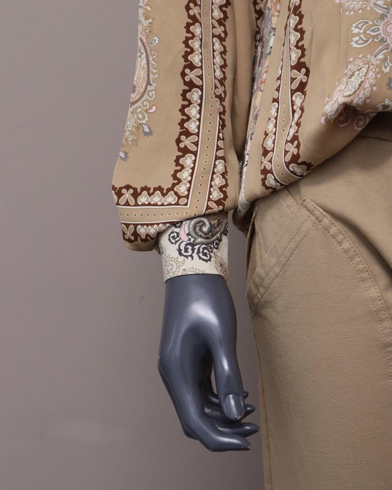 Blouse barok print beige