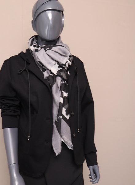 Sjaal animal/grijs