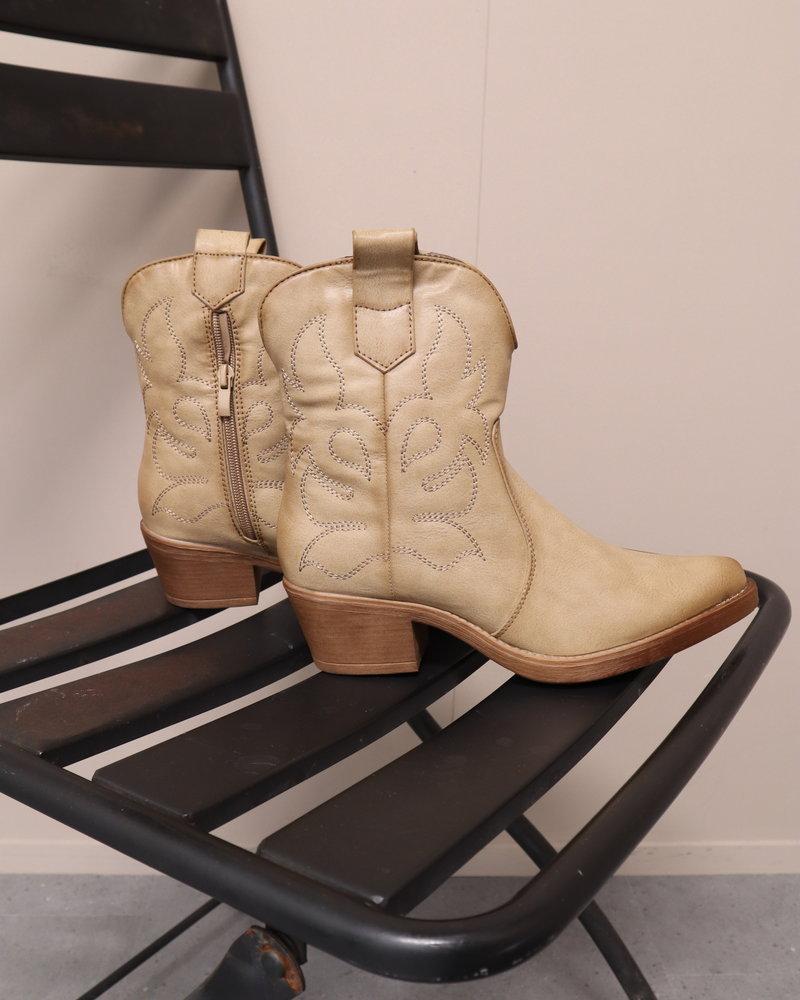 Western boots laag kaki