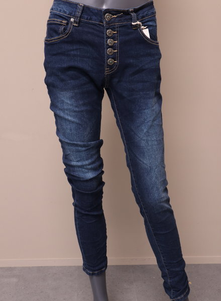 "Triple Nine Jeans ""Eve"" donkerblauw"