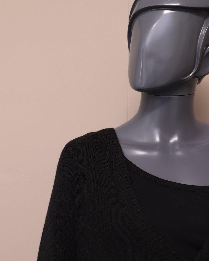 Oversized vest knoop zwart
