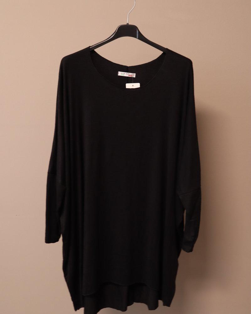 Tuniek/jurk gebreid zwart PLUS