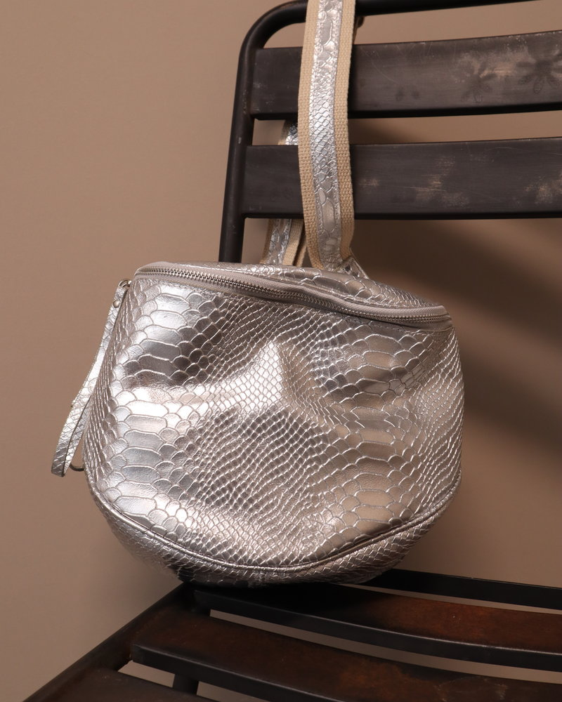 """Tas """"Romsa""""metallic/zilver"""