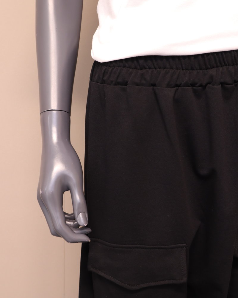 Oversized langkruisbroek zwart
