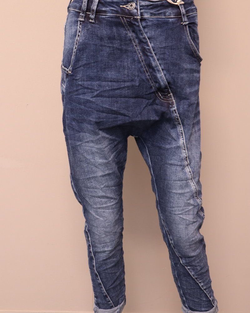 Melly & Co Jeans laagkruis denim blauw