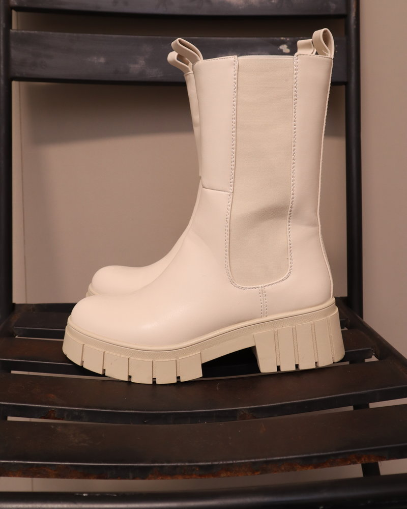 Hoge boots roomwit