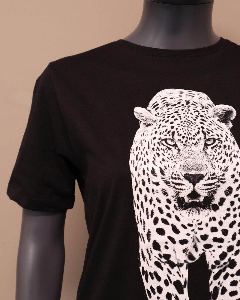 T-shirt panter zwart