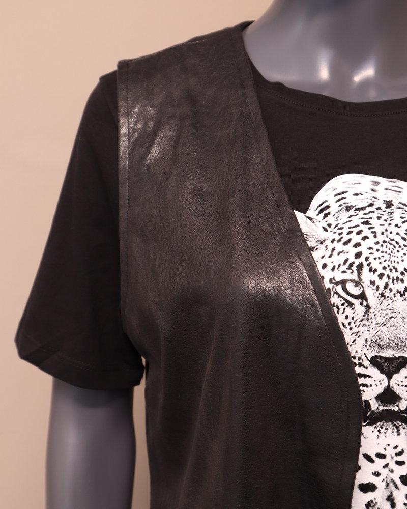 Gilet/jas mouwloos zwart