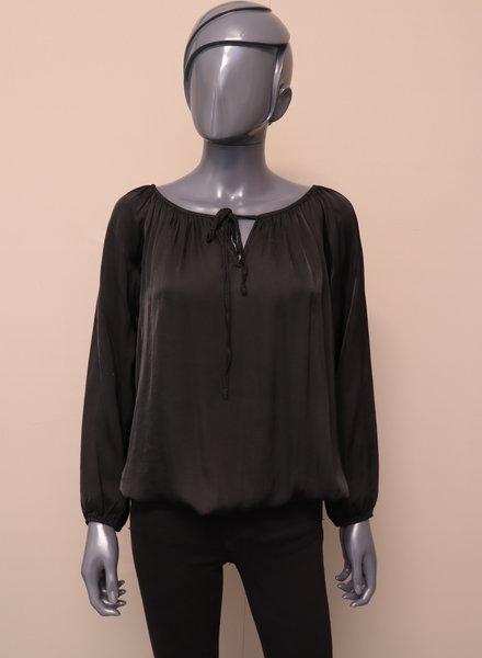 Silky ballontop zwart
