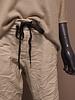 Comfi broek leatherlook roomwit