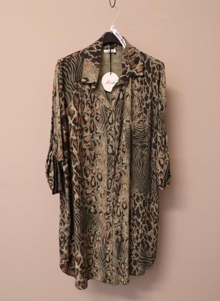 Tuniek/blouse panter groen PLUS