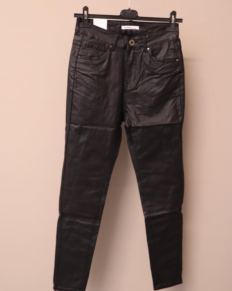Goodies Leatherlook jeans zwart PLUS