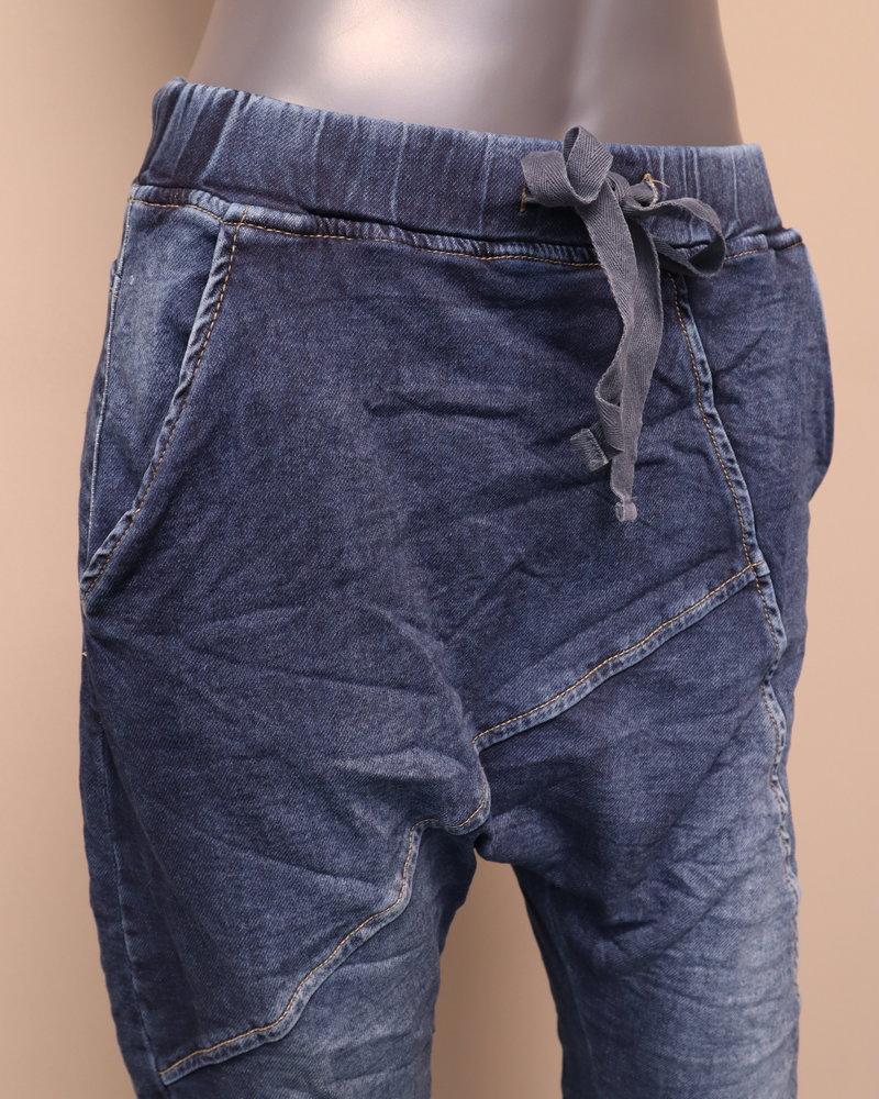 Melly & Co Jog jeans laagkruis denim blauw