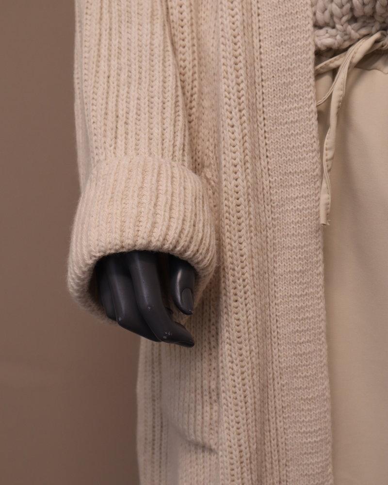 """Xuna Gebreid vest """"Lisa"""" roomwit"""