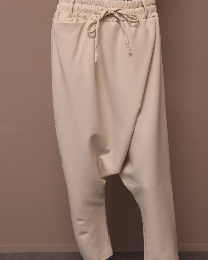 Xuna Pantalon overslag/laagkruis roomwit