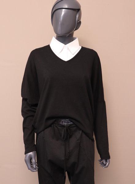 Sweater V-hals zwart