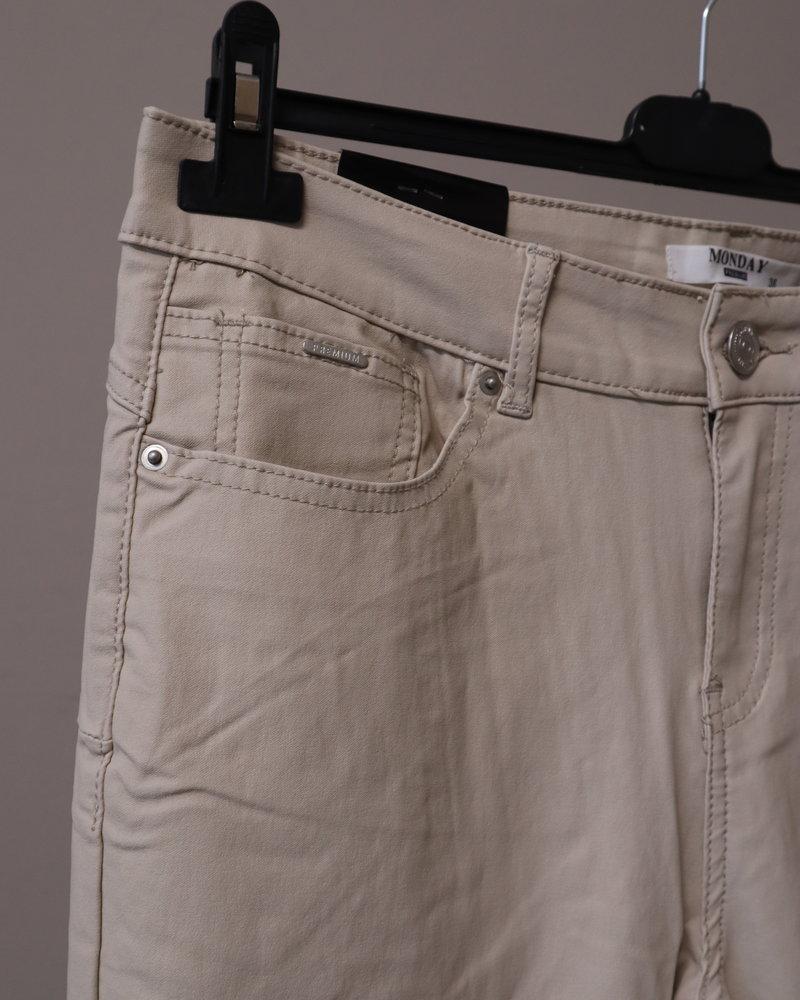 "Monday Coated jeans ""Iris"" beige PLUS"