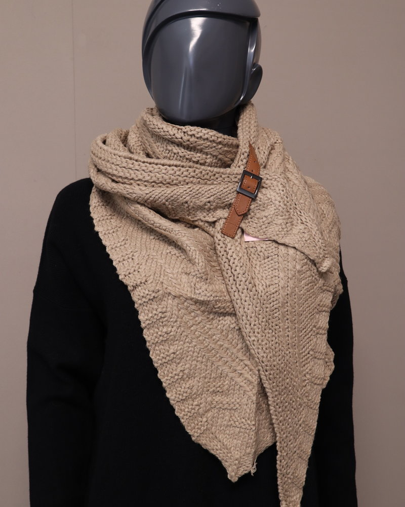 """Poncho/sjaal """"Elly"""" camel"""