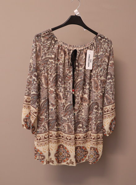 "Tuniek blouse ""Ilona"" beige PLUS"