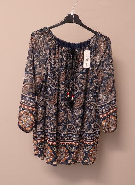 "Tuniek blouse ""Ilona"" blauw PLUS"
