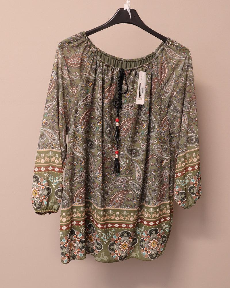 "Tuniek blouse ""Ilona"" groen PLUS"