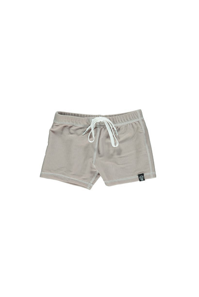 SAND RIBBED SWIMSHORT
