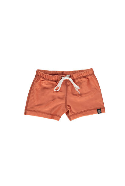 CLAY RIBBED SWIMSHORT