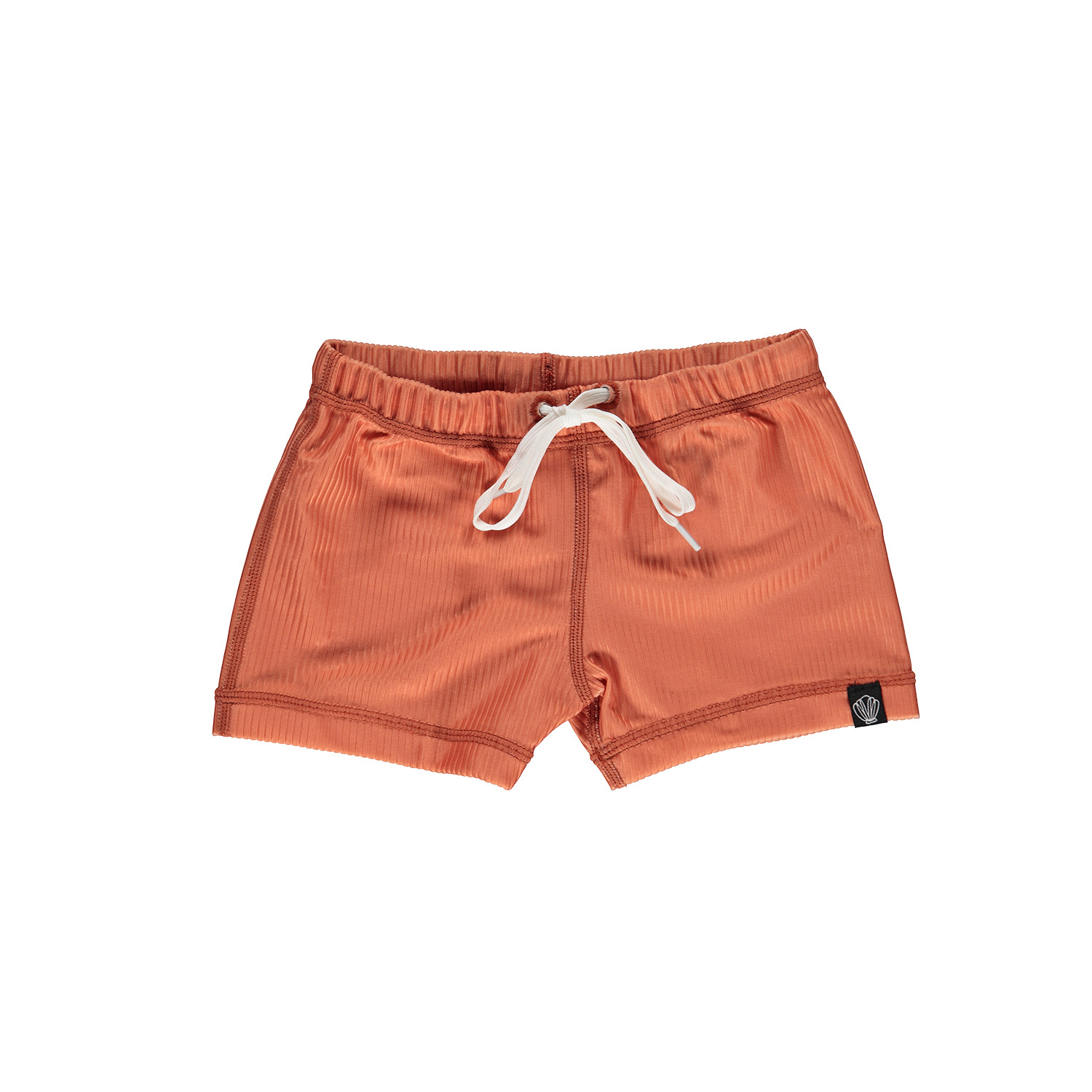 CLAY RIBBED SWIMSHORT-1